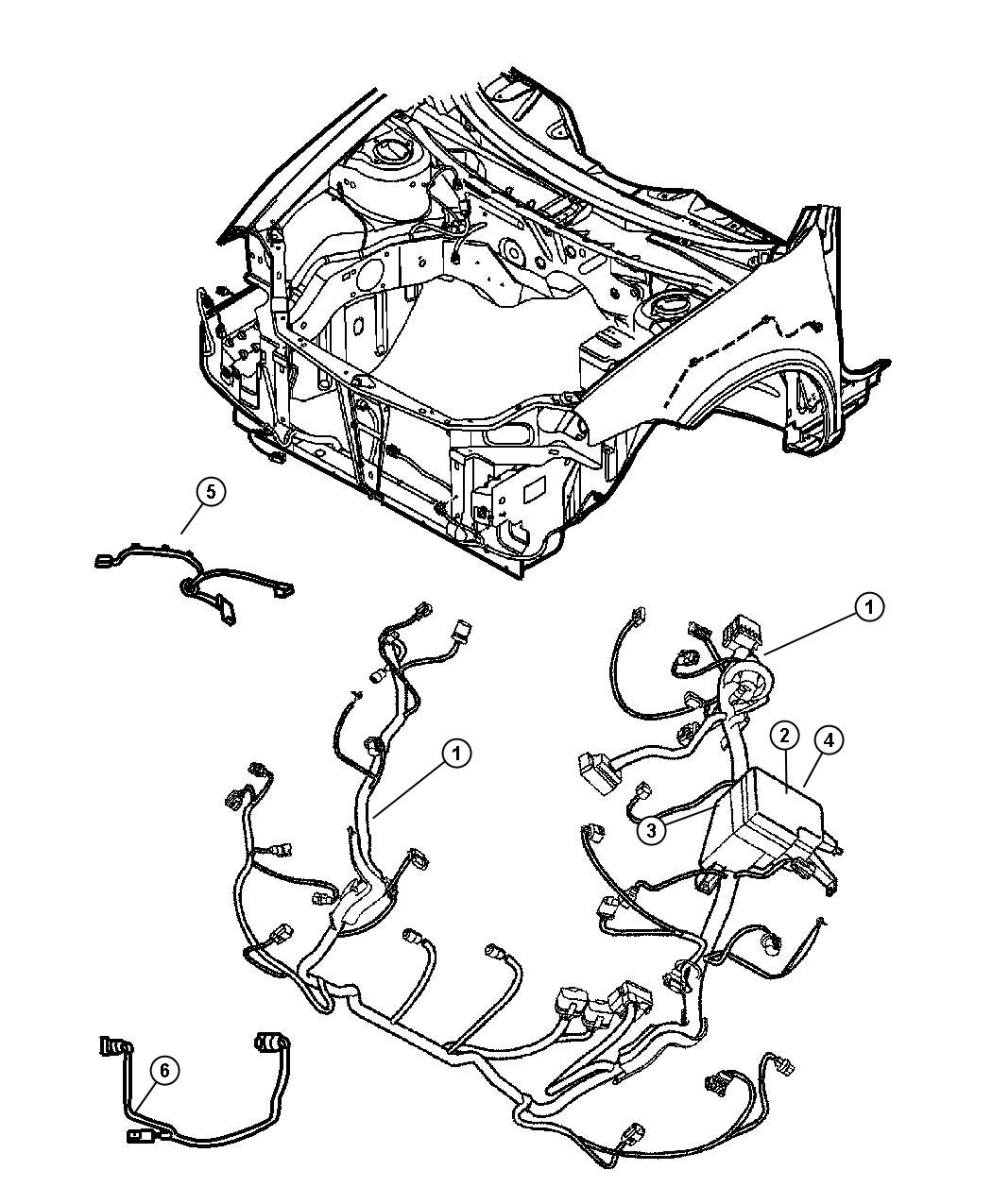 Dodge Neon Wiring Headlamp And Power Distribution