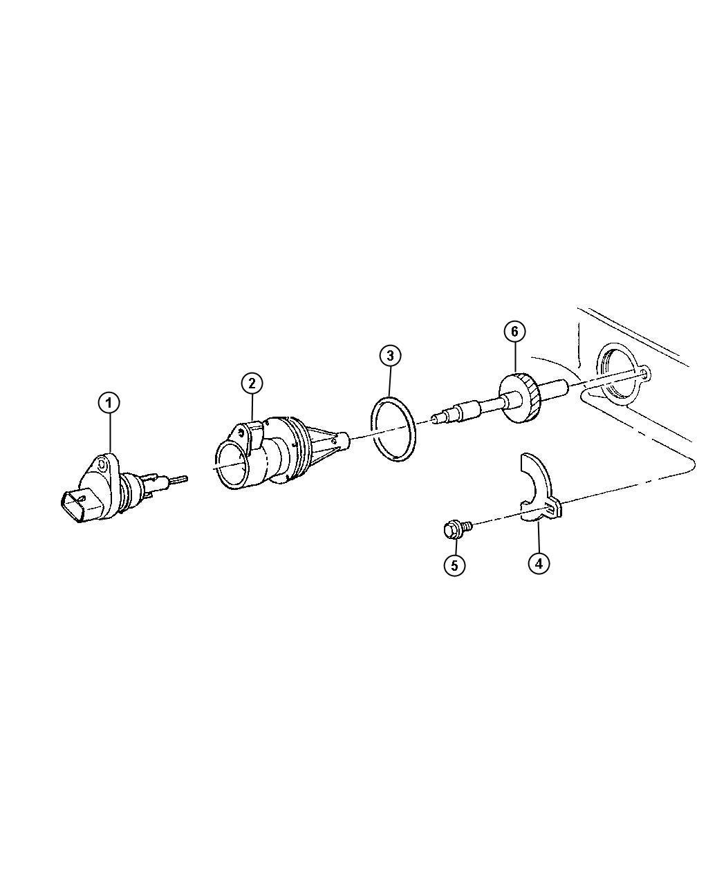 Jeep Wrangler Housing Speedometer Drive Gear