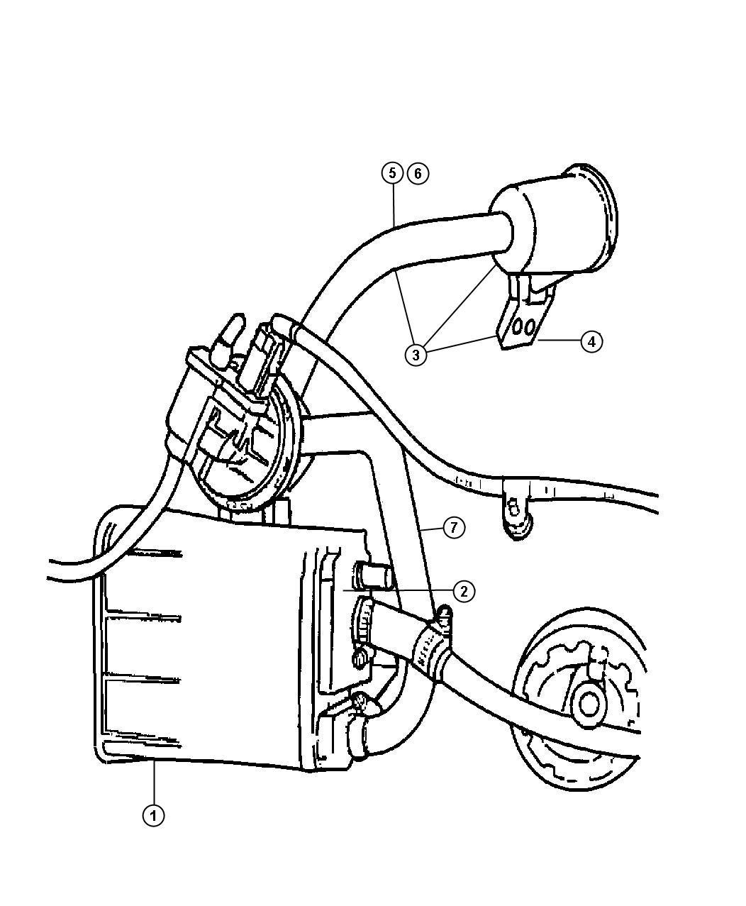 Dodge Stratus Hose Filter To Nvld Federal Emissions