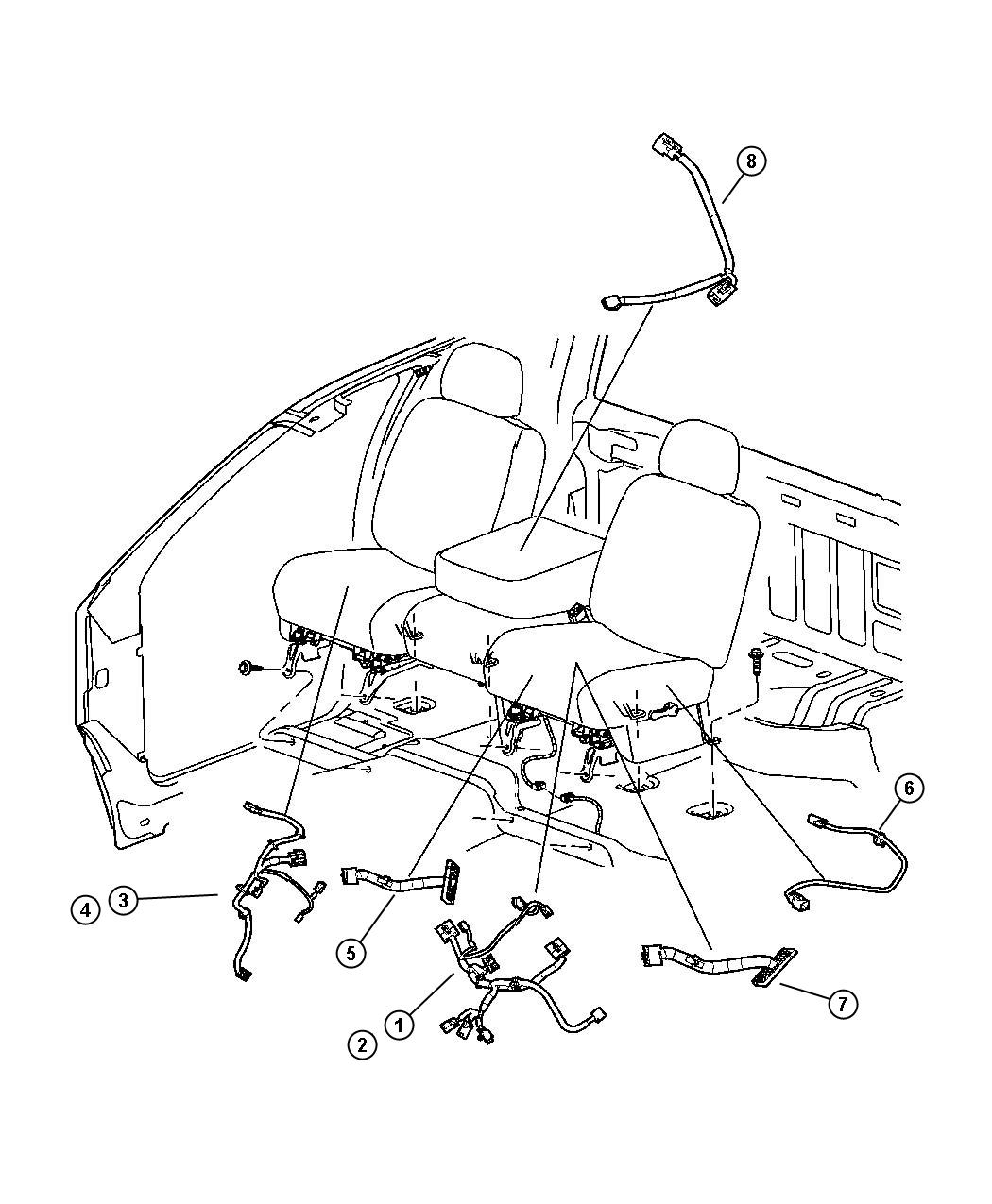 Dodge Ram Wiring Jumper Armrest Trim Seat