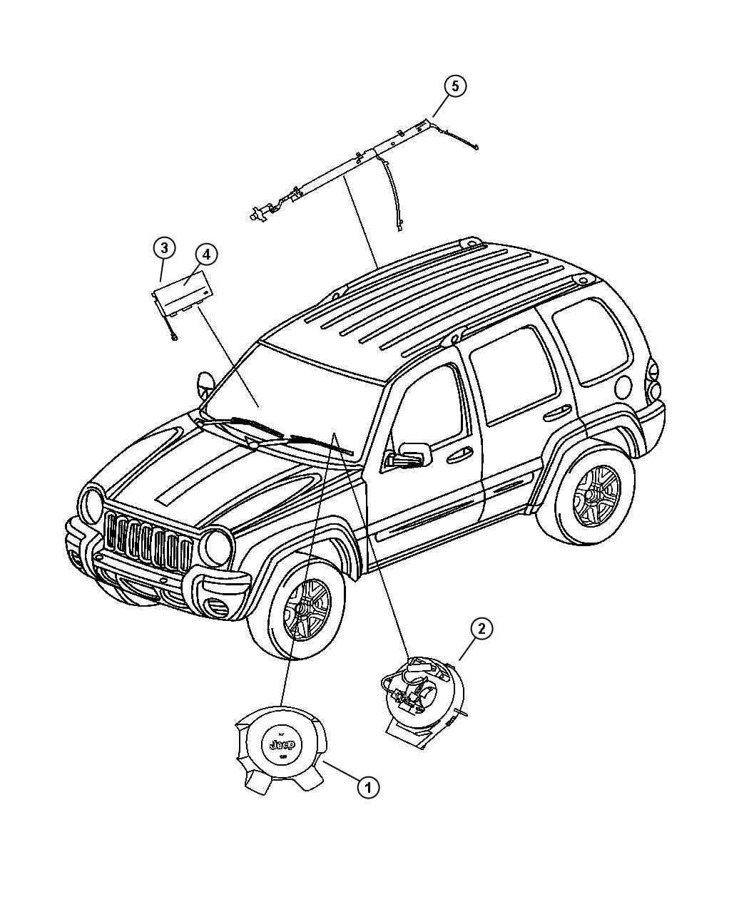 Jeep Liberty Door Passenger Air Bag Trim All Trim