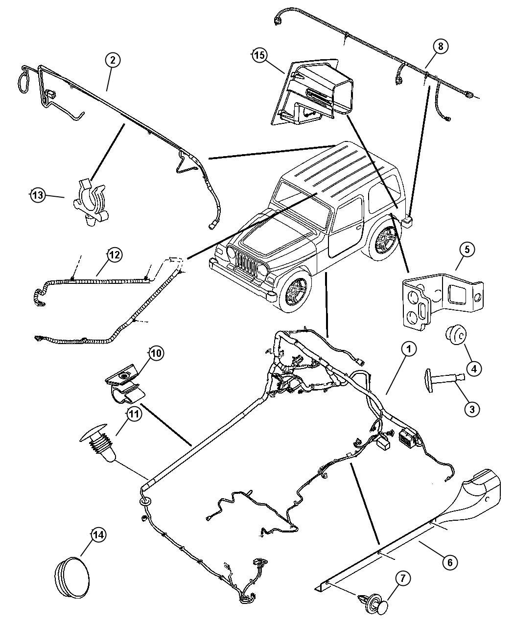 Jeep Wrangler Wiring Body Hard Top