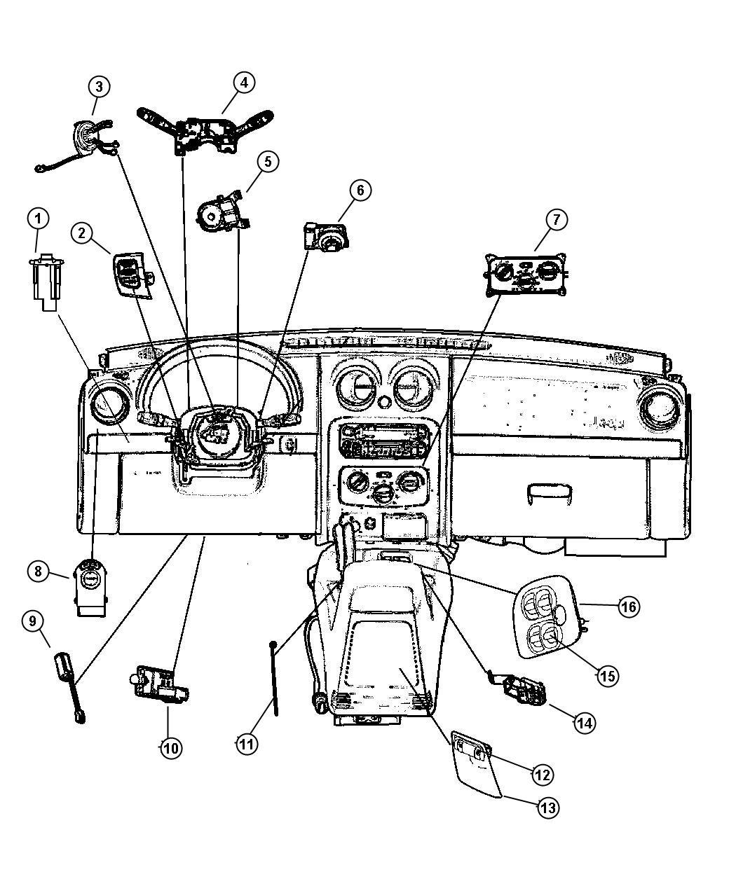 Chrysler Pt Cruiser Switch Ignition Tilteuropean