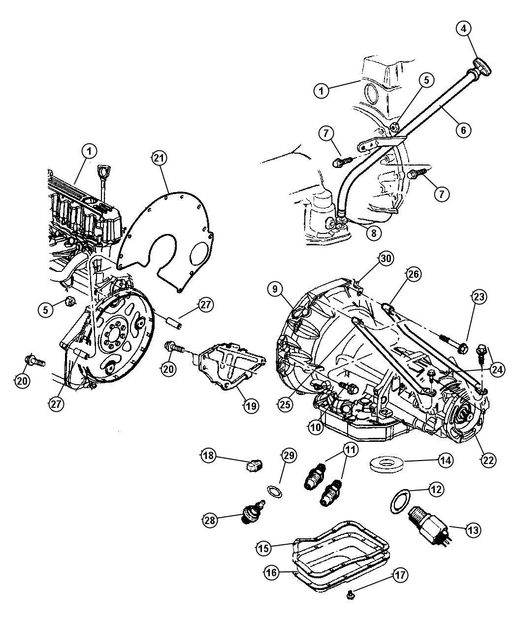 tags: #oil pan transmission 52118779ad#42rh transmission pan#42re  transmission governor pressure sensor#42re transmission case#42re  transmission gasket#42re