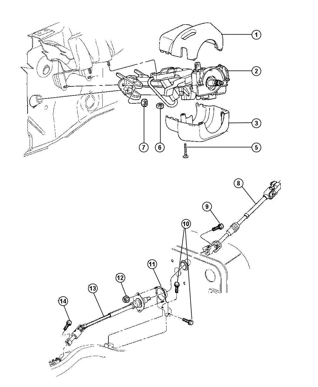 Jeep Wrangler Shaft Intermediate Upper
