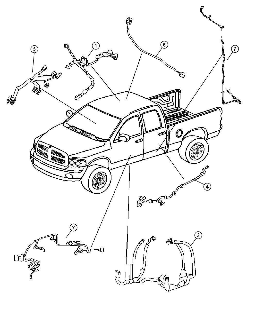 Dodge Dakota Wiring Rear Door Left