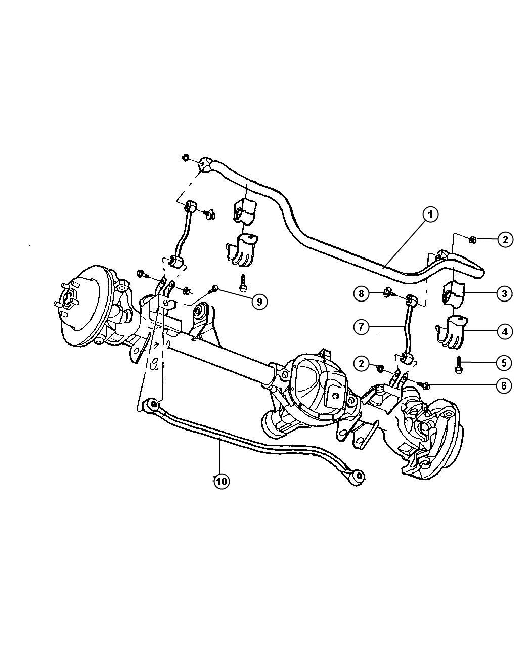 Jeep Grand Cherokee Track Bar Front Engines