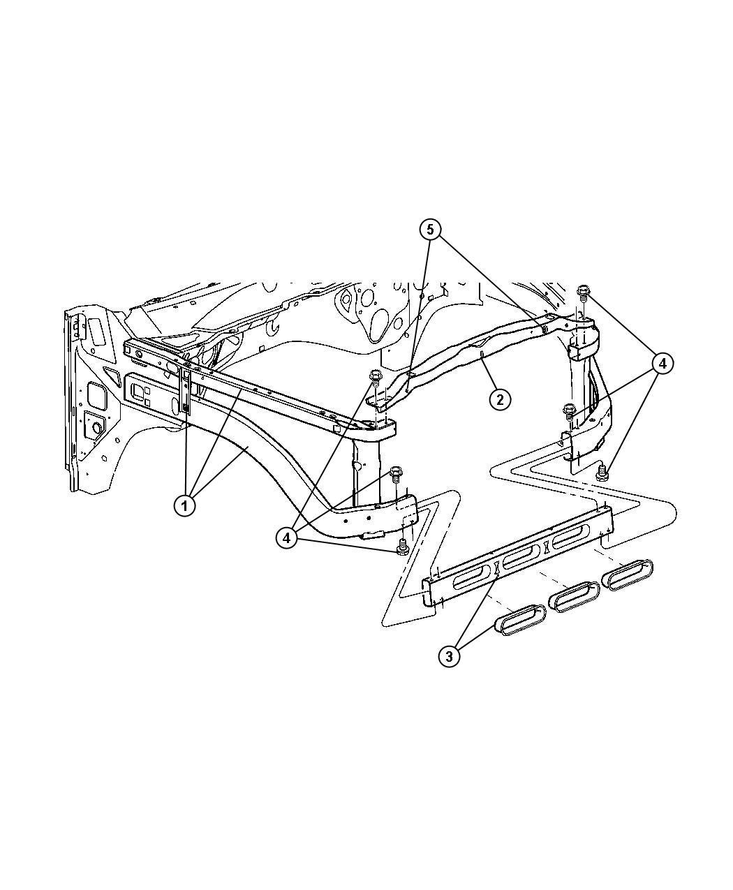 Dodge Ram Crossmember Radiator Lower Closer