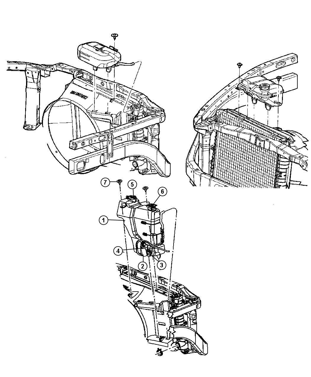 Dodge Intrepid Grommet Windshield Washer Pump