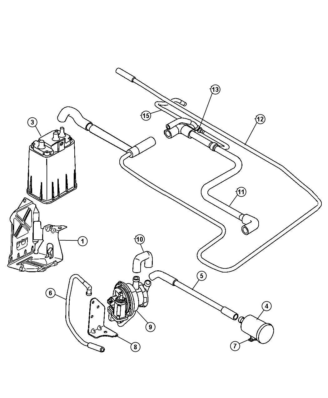 Dodge Ram Filter Fuel Vapor Vent Leak Detection