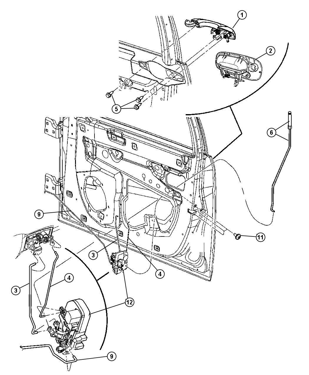 Dodge Charger Handle Exterior Door Right W1 W1