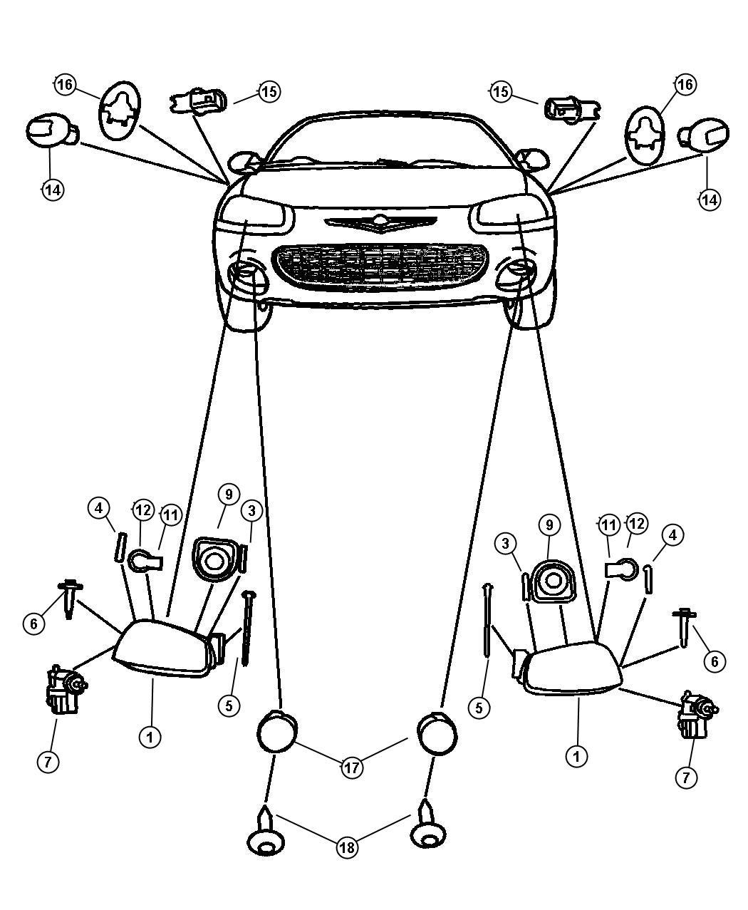 Chrysler Sebring Module Left Headlamp Lml