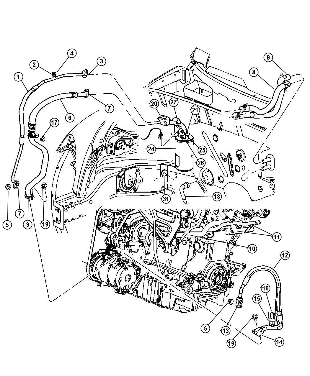 Chrysler Pt Cruiser Line A C Suction Automatic Transaxle