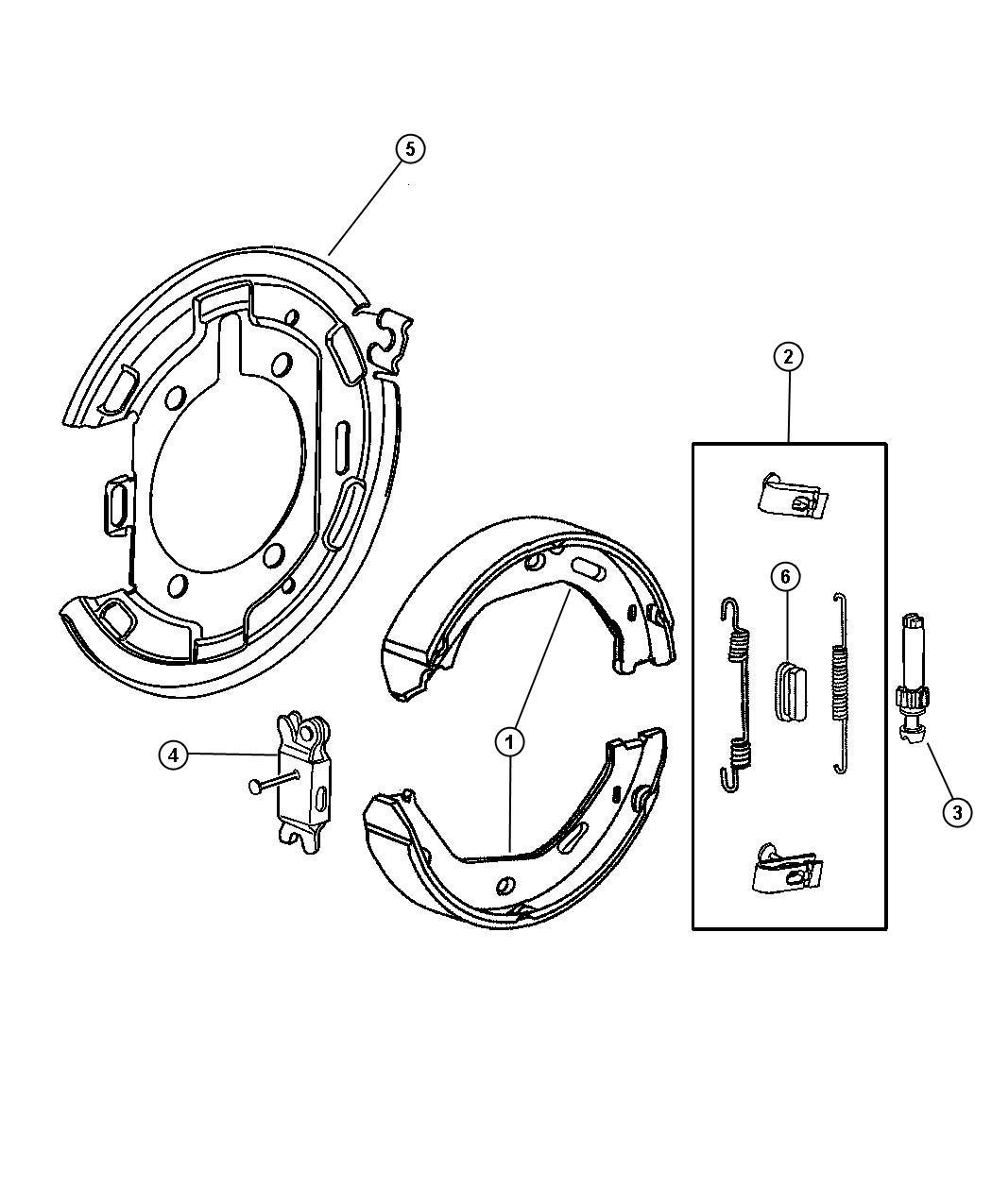Parking Brake Assembly Rear Disc