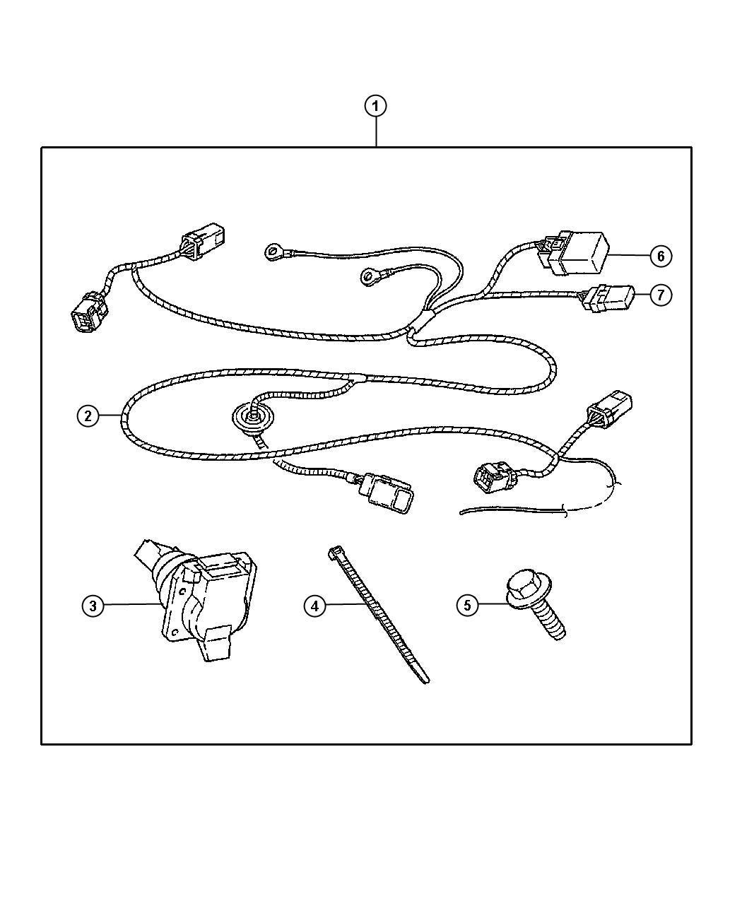 Chrysler 300 Wiring Kit Trailer Tow