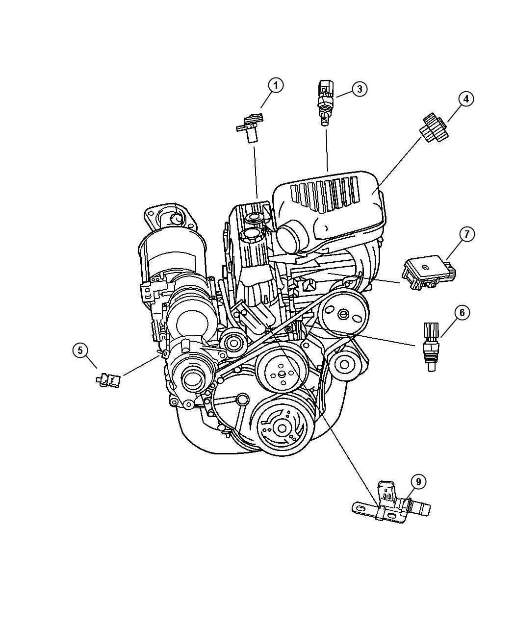 Jeep Wrangler Sensors 2 4l Engine All 4 Cyl Gas