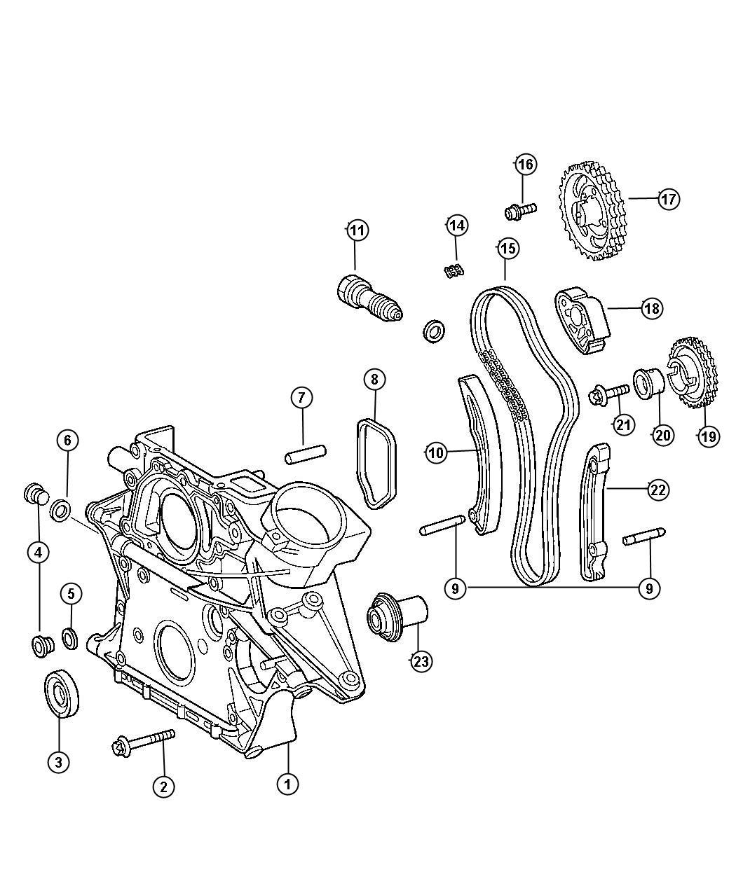 Chrysler Crossfire Bolt Screw M8x1 25x70 Mounting