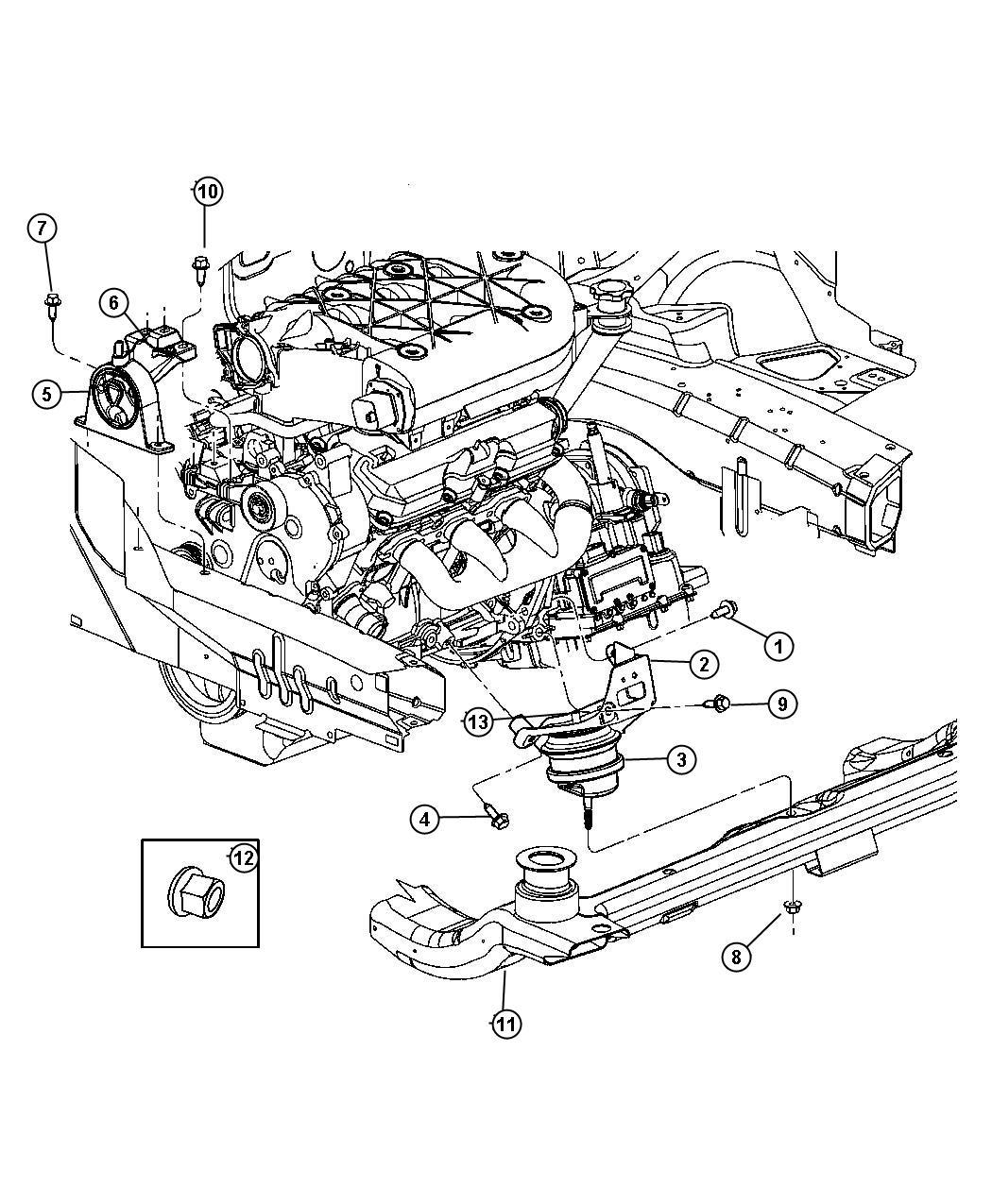 Chrysler Pacifica Bracket Engine Mount