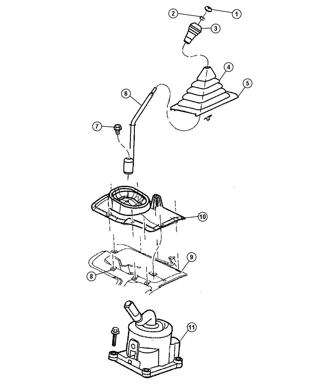 Jeep Wrangler Bezel Gearshift Lever Boot