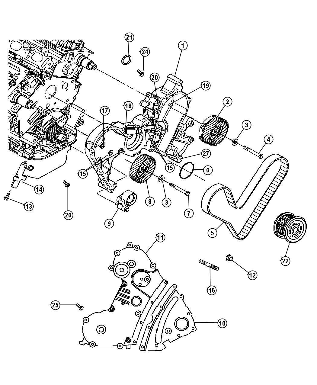 Chrysler Pacifica Limited 4 0l V6 Gasket Timing Case
