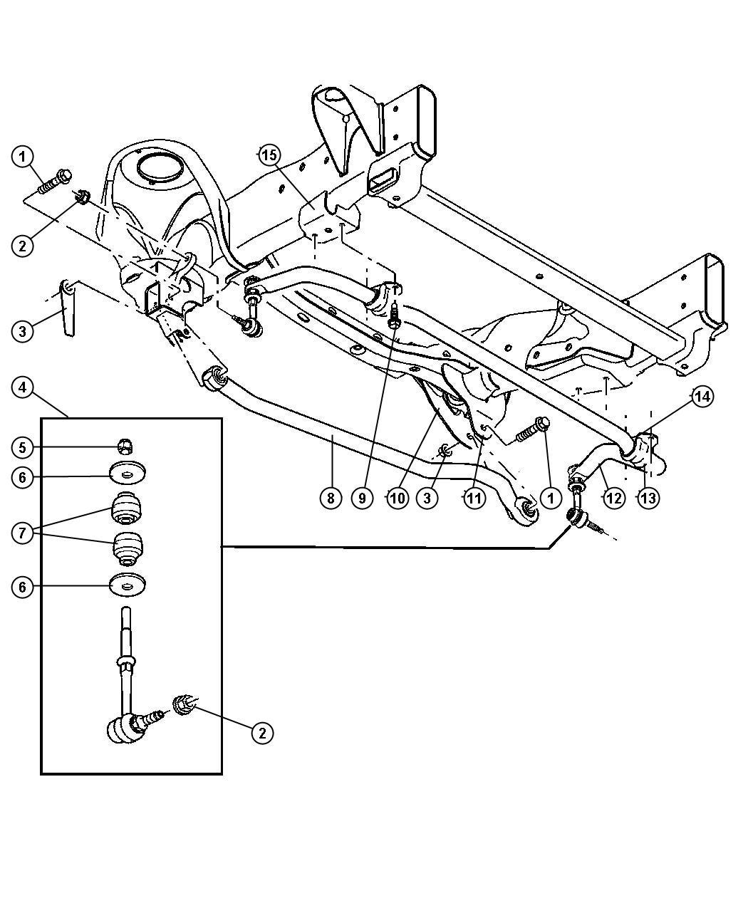 Dodge Ram Bar Stabilizer Bar Front Front Sway Sha