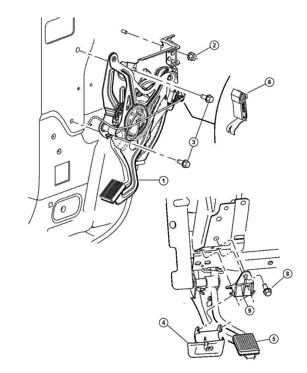 Chrysler Pacifica Handle Parking Brake Dv L2 P7