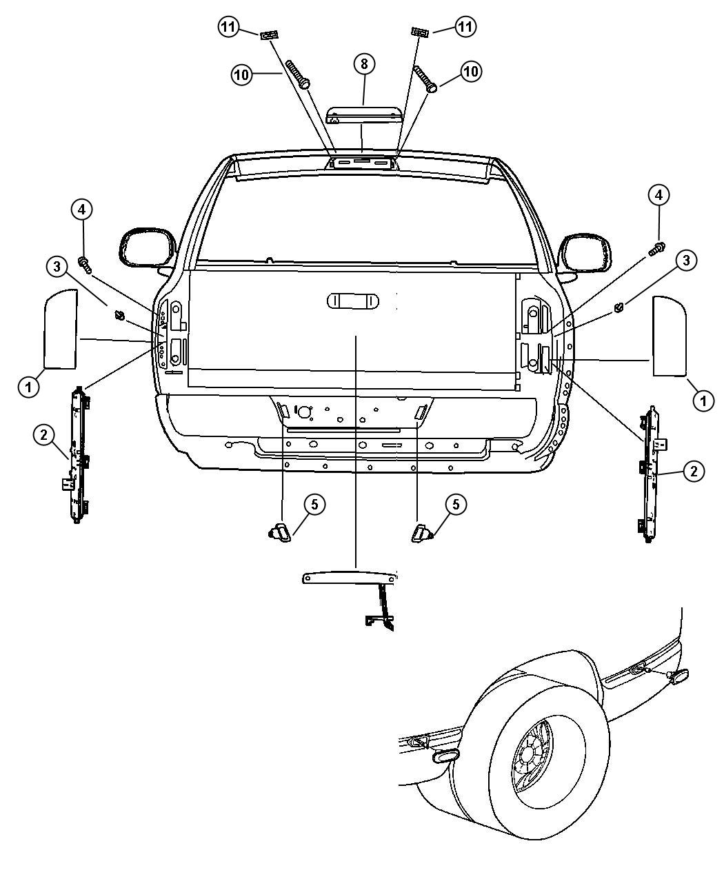 Dodge Ram Tailgate Part Diagram Dodge Free Engine