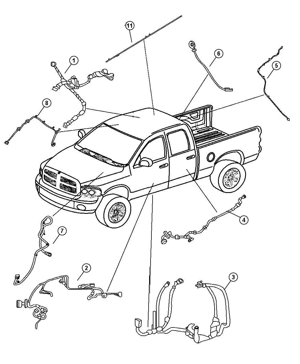 Dodge Ram Wiring Body Rear Power Sliding Window