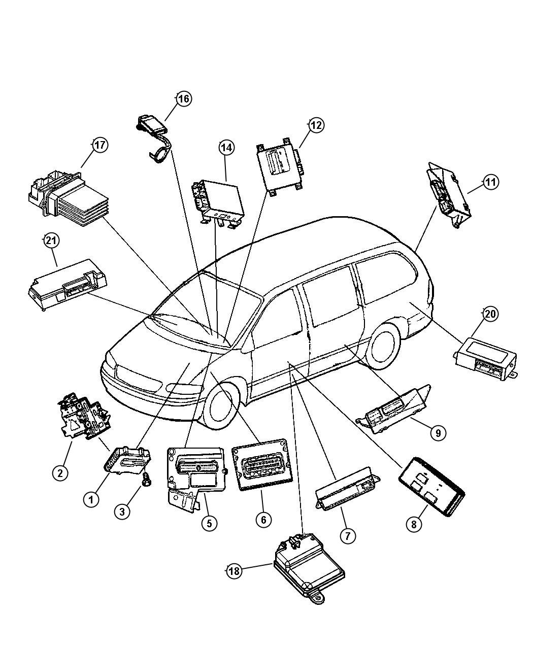 Dodge Caravan Part Diagram