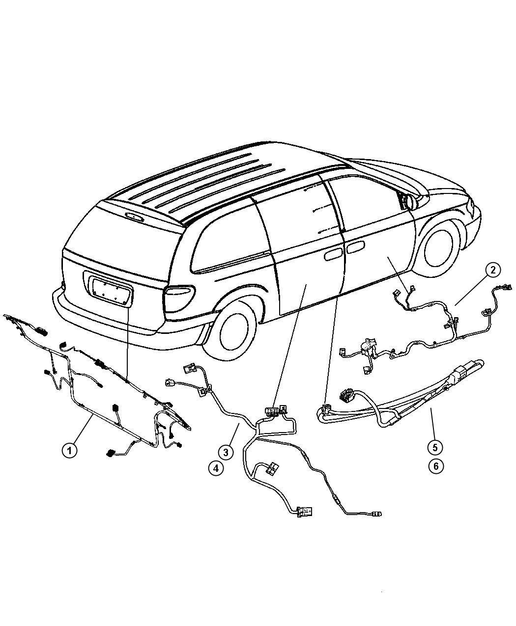 Dodge Caravan Wiring Liftgate Jpb Locksrear
