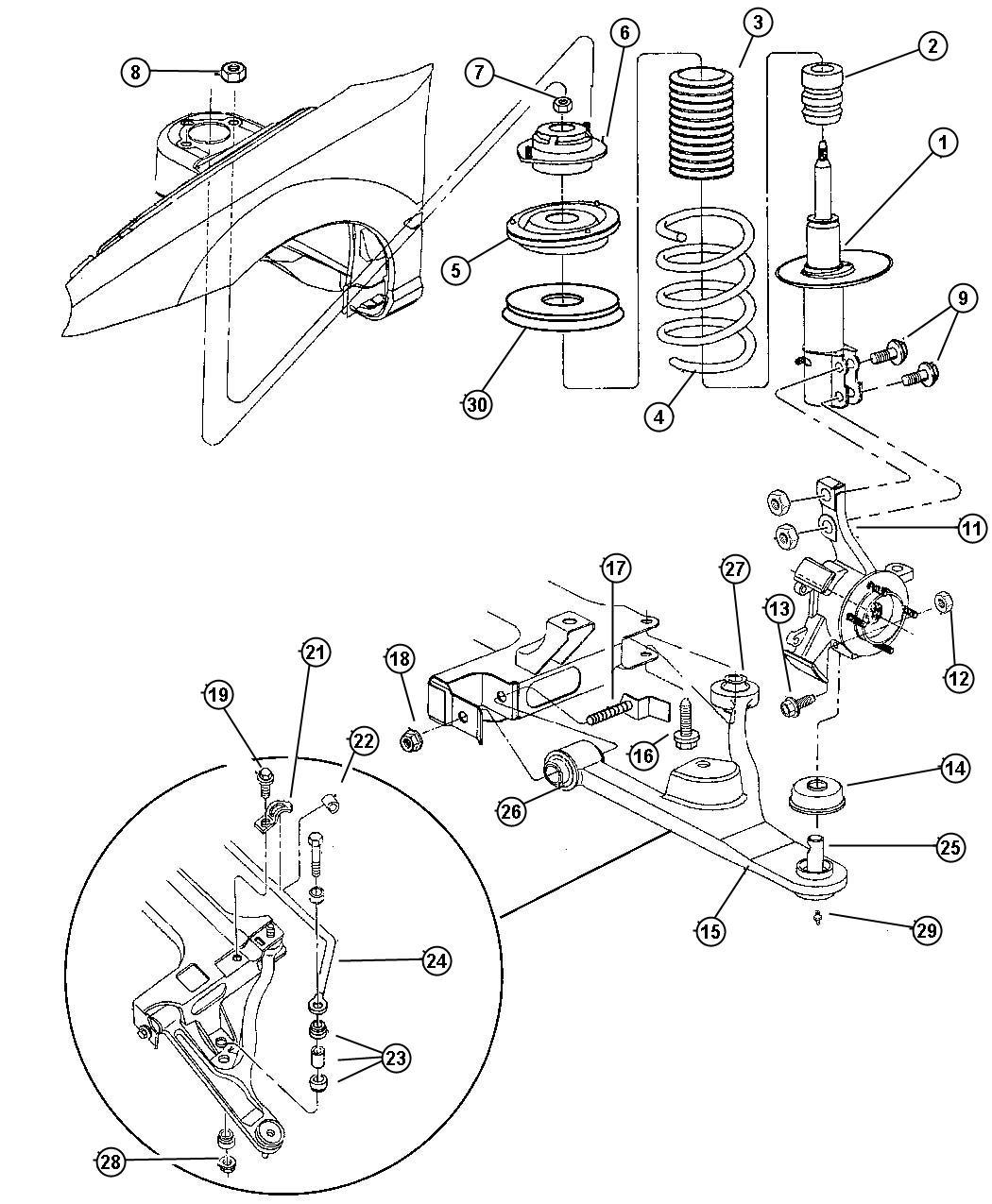 Chrysler Pt Cruiser Plate Retainer Suspension