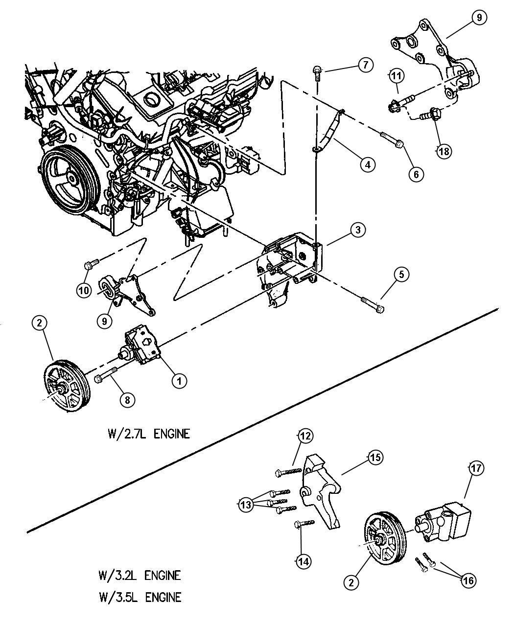 Dodge Pump Power Steering Assys