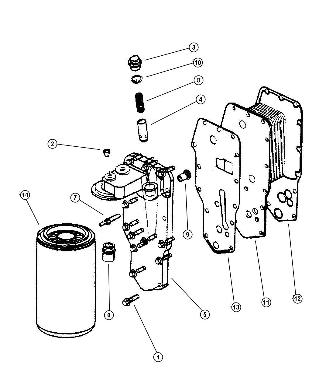Dodge Ram Engine Oil Cooler