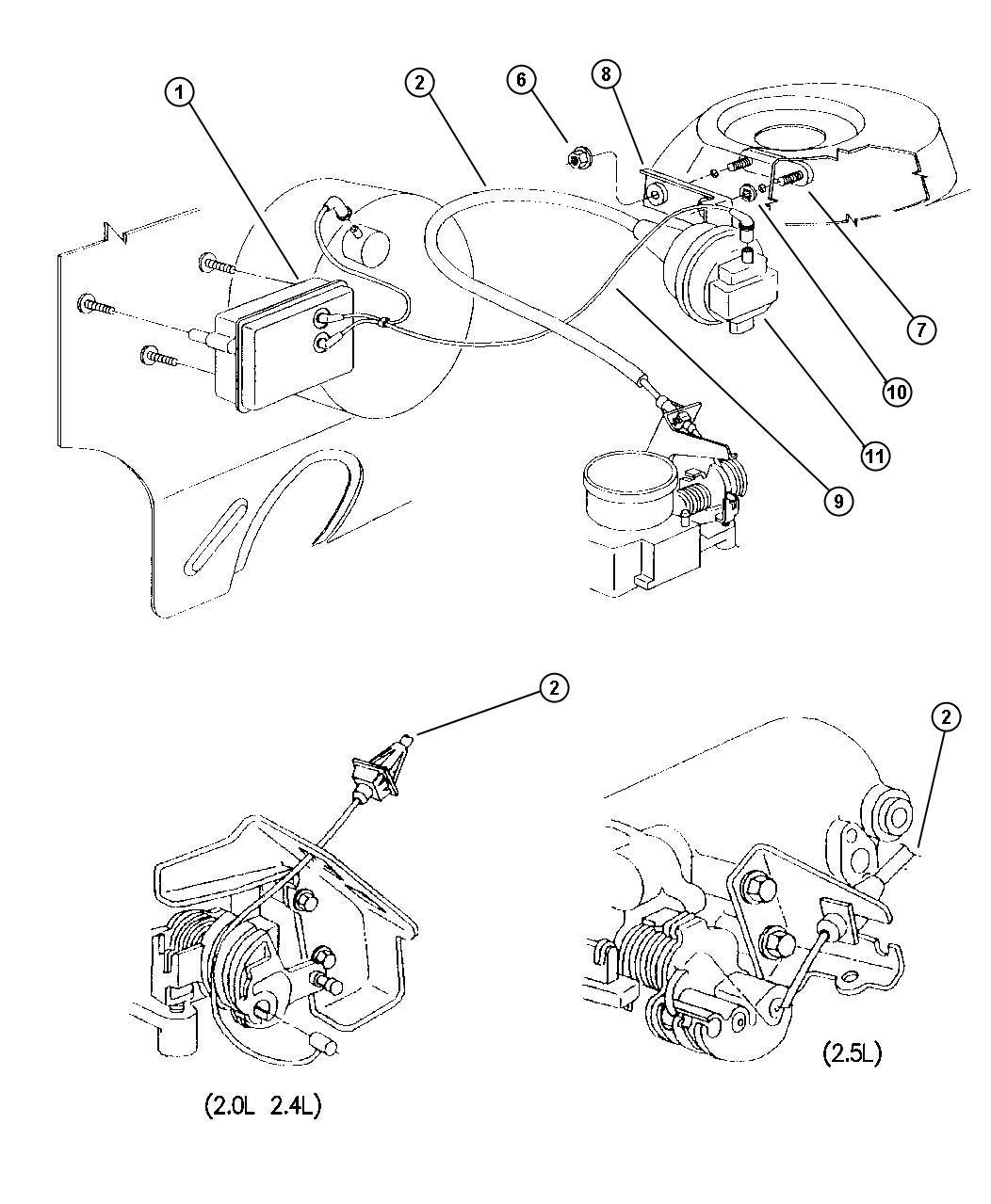 Plymouth Breeze Speed Control 2 0l 2 4l 2 5l Engine