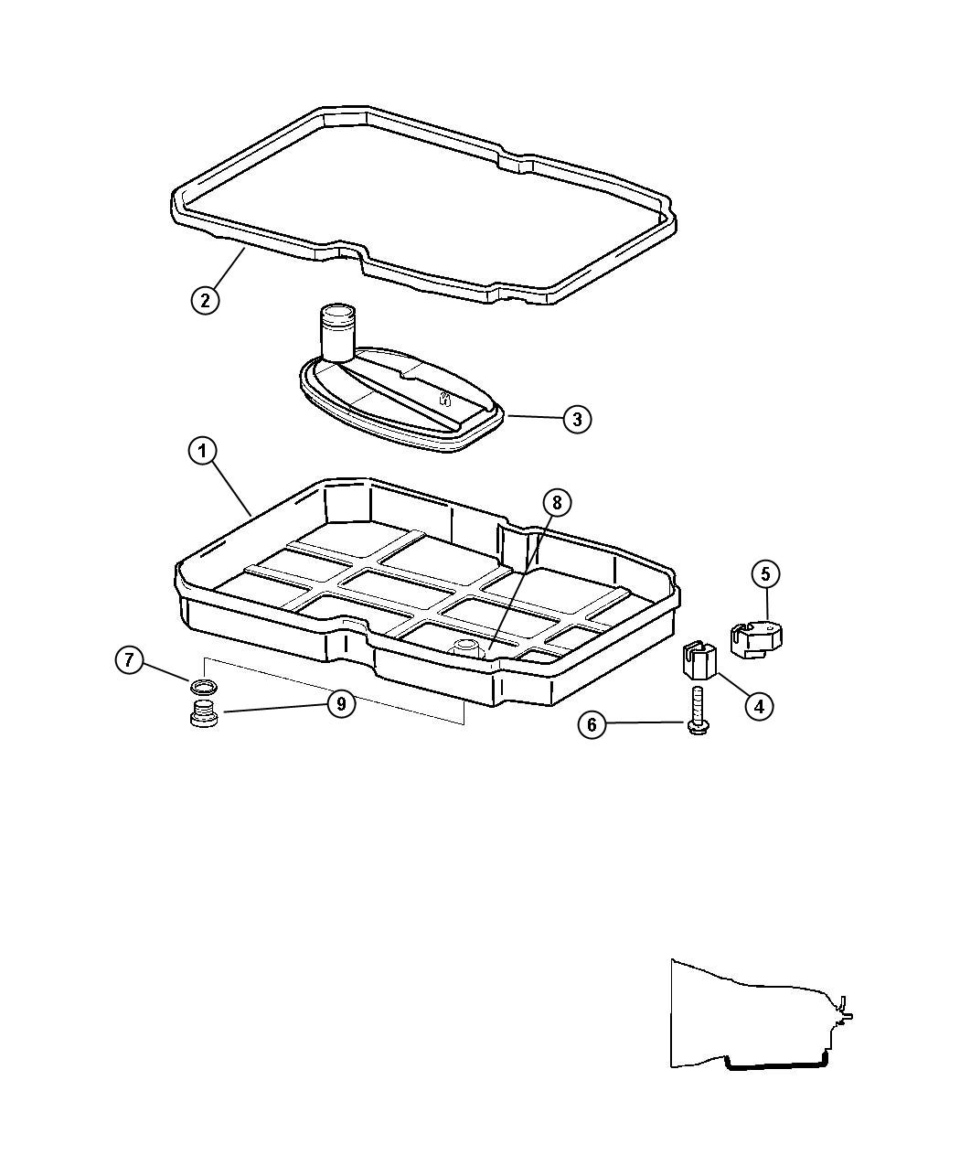 Chrysler Crossfire Seal Transmission Oil Plug Drain Seal