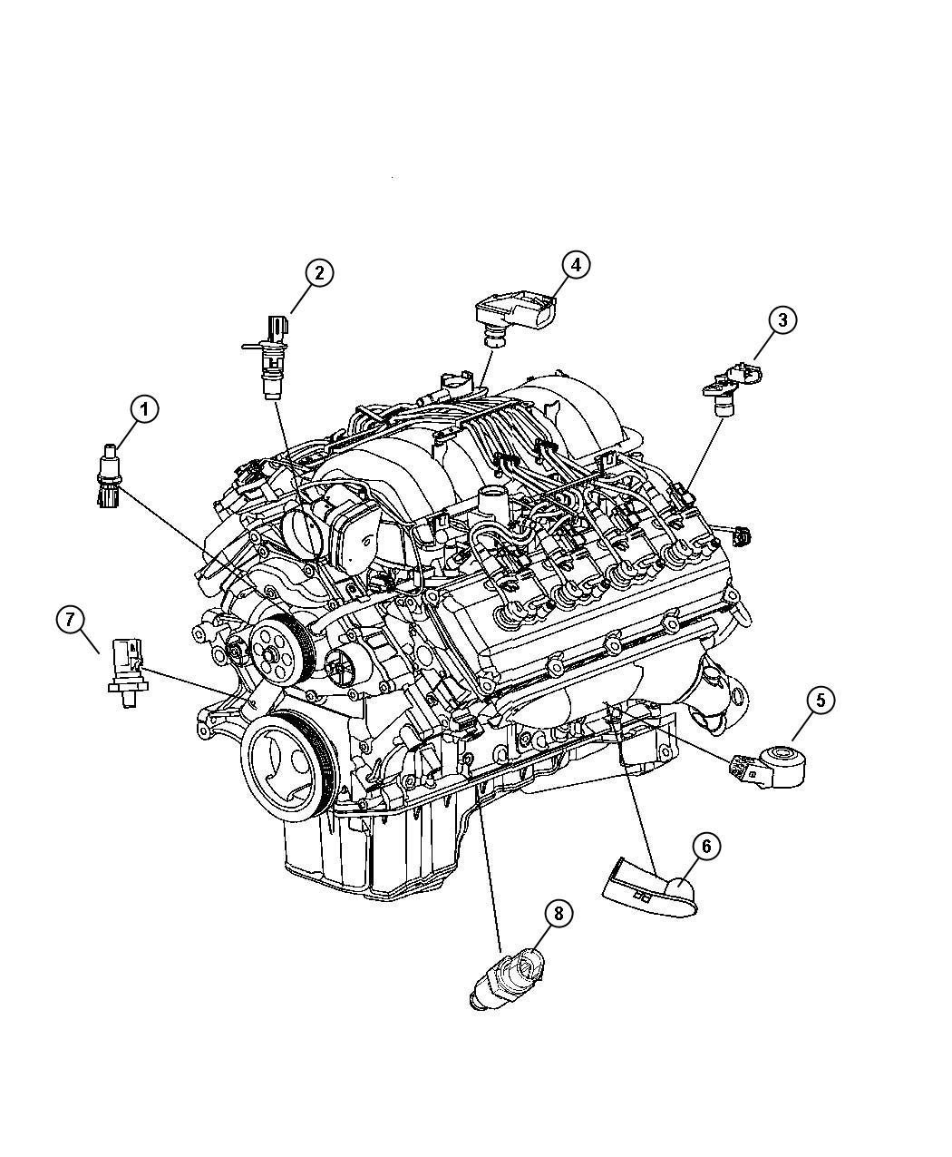 Dodge Challenger R T 5 7l Hemi V8 M T Sending Unit