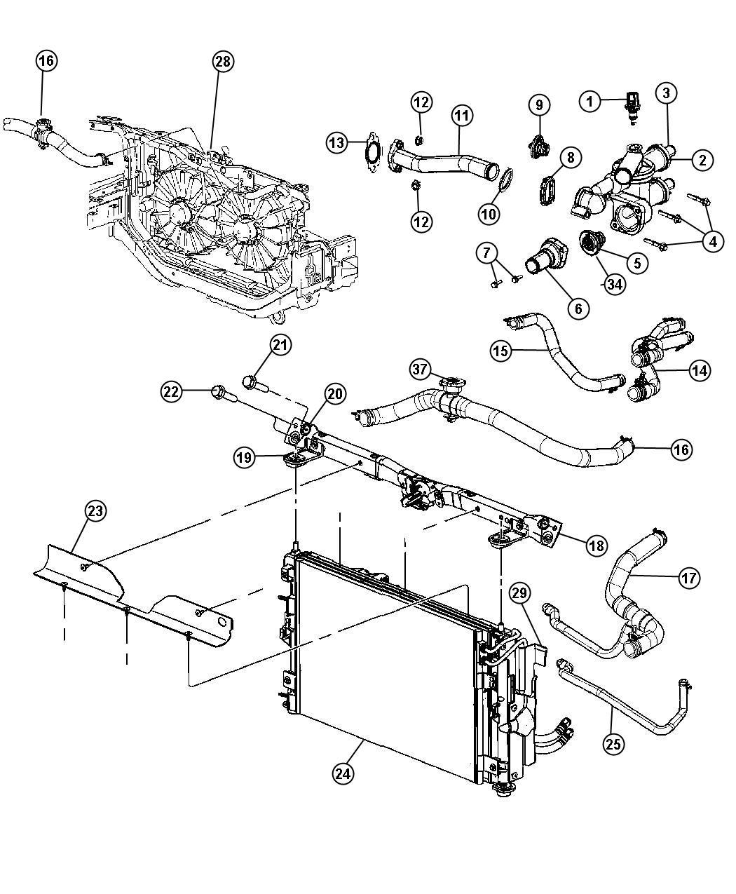 Explorer Thermostat Housing Gasket Diagram