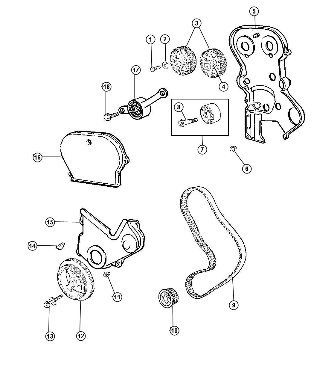 Dodge Intrepid Screw Hex Flange Head Tapping M4 8 X 1 59