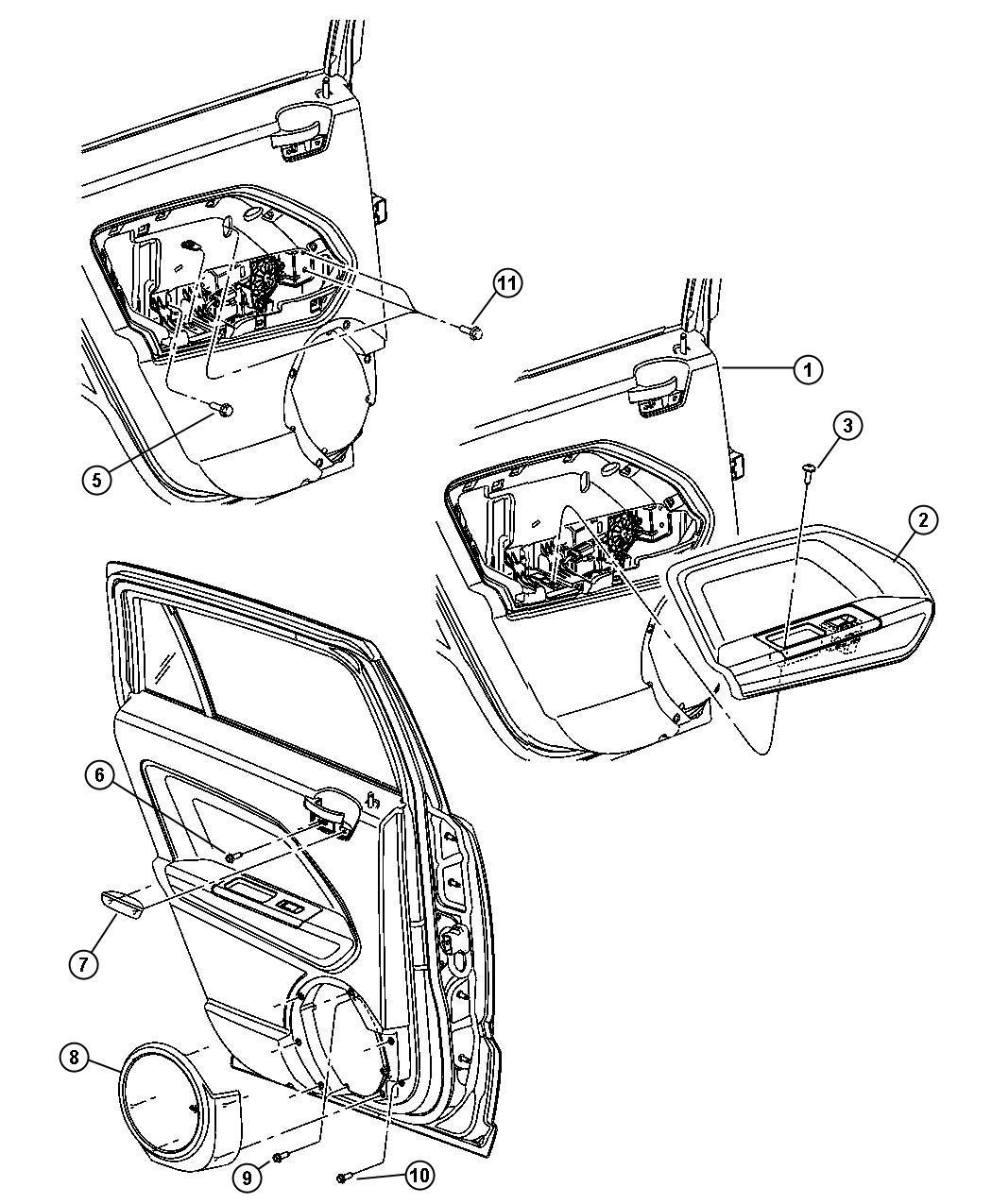 Jeep Patriot Grille Speaker Right Da Trim All Trim