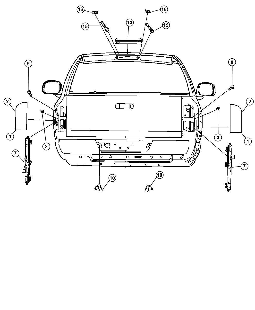 Dodge Ram Bracket Tail Lamp Left Pickup Box
