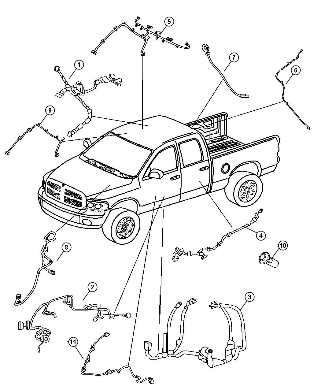 Dodge Ram Wiring Body Supplemental Side Air Bags