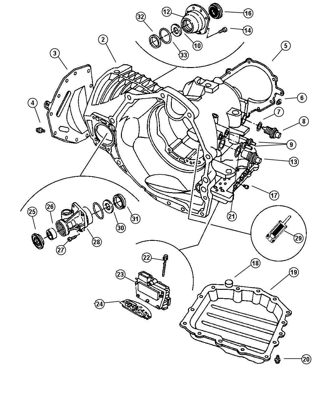Chrysler Sebring Solenoid Module Solenoid Package