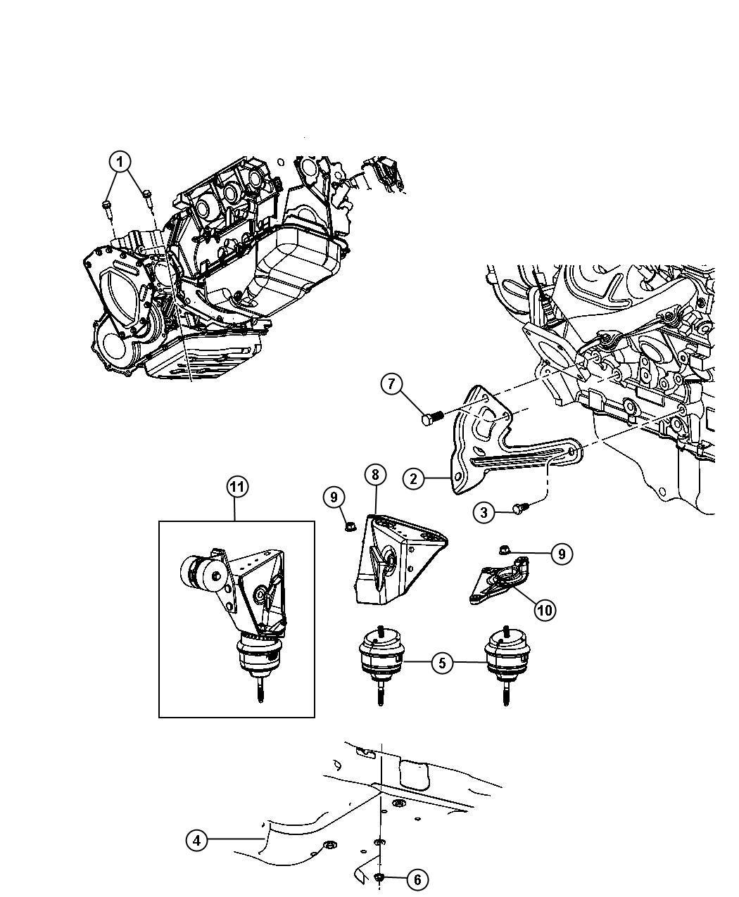 Chrysler Pacifica Motor Mount Diagram