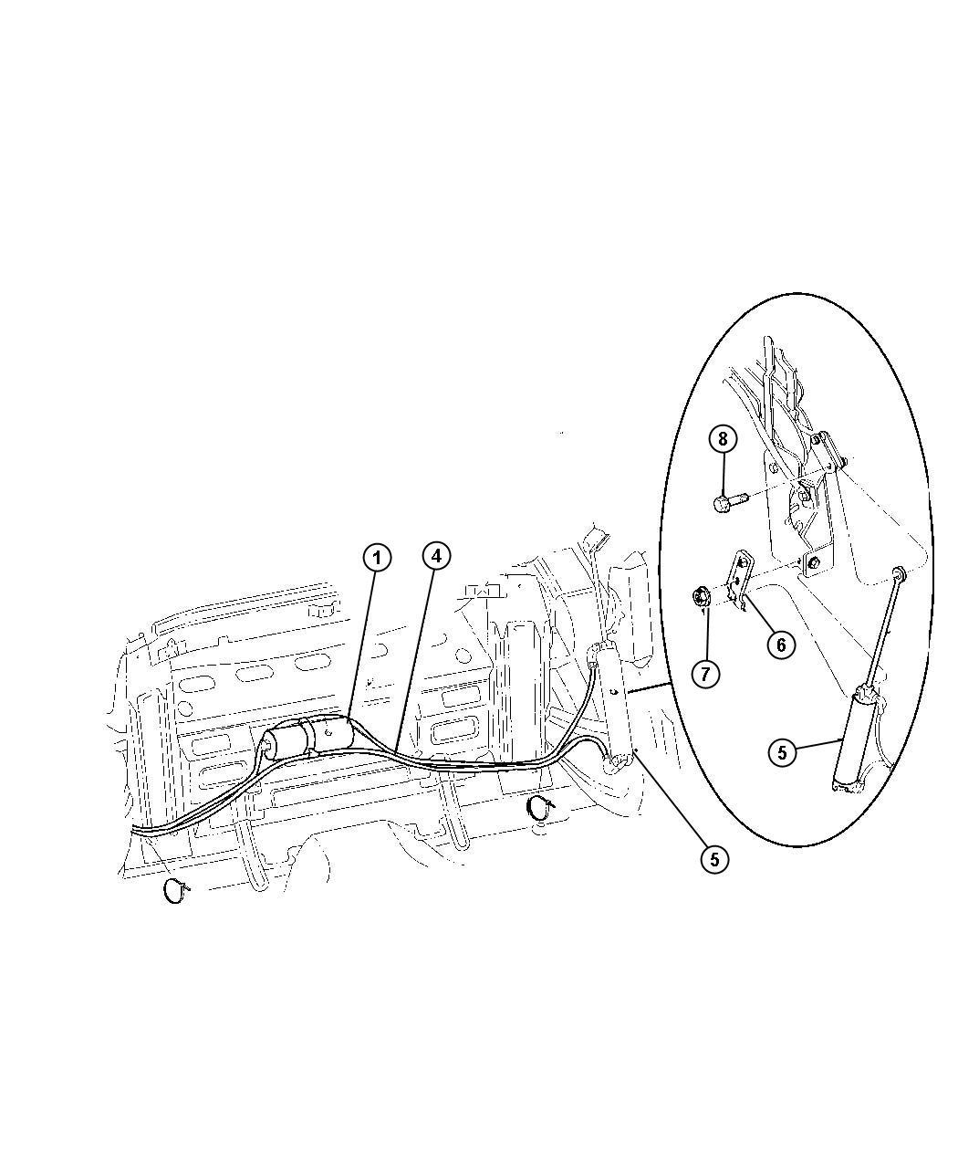 Chrysler Sebring Hose Folding Top Pump Motor