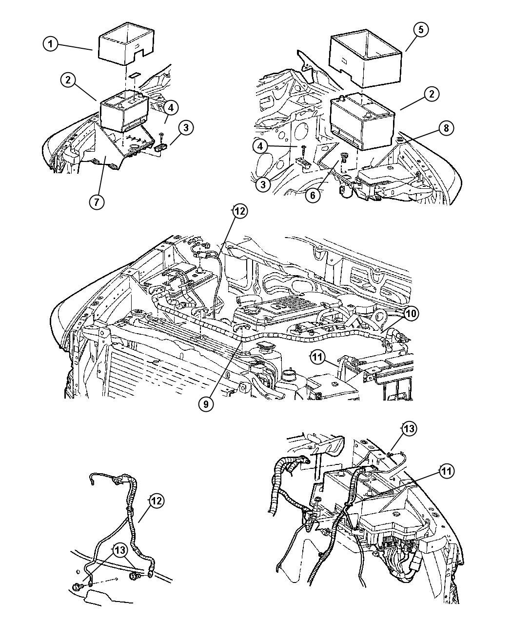 Dodge Ram Wiring Battery Positive Left
