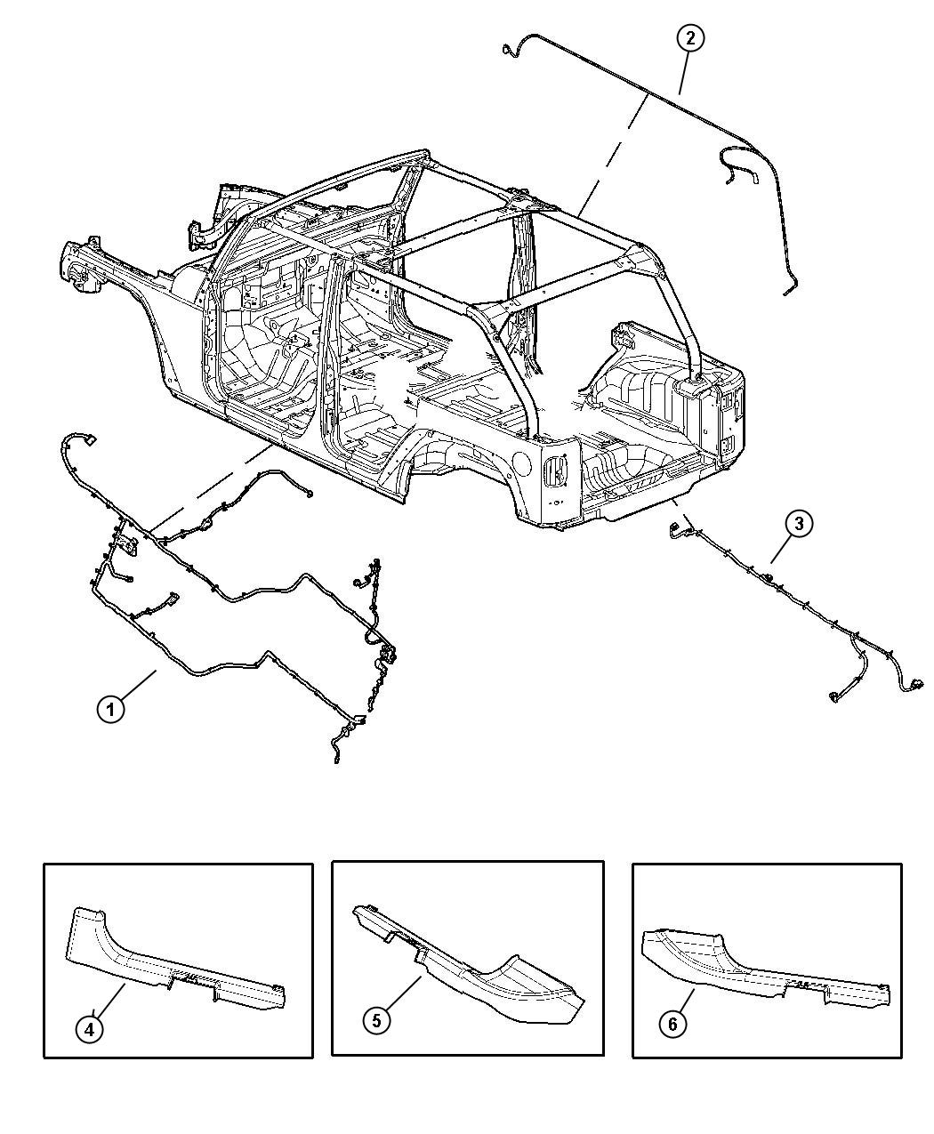 Jeep Wrangler Wiring Body Base