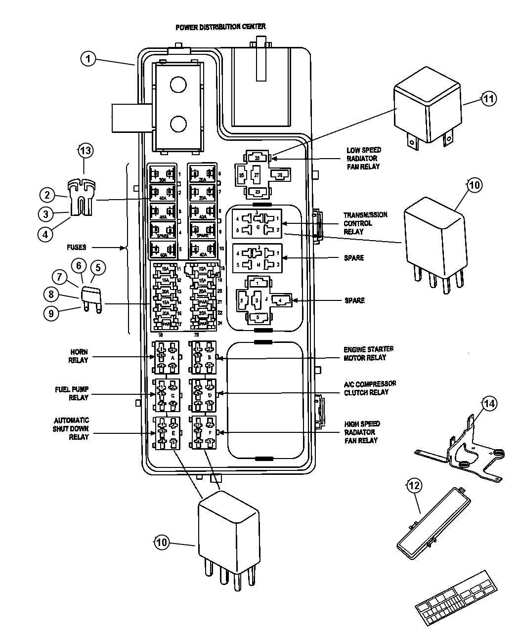 5l3t aa relay diagram wiring diagram database jeep relay mini radiator fan