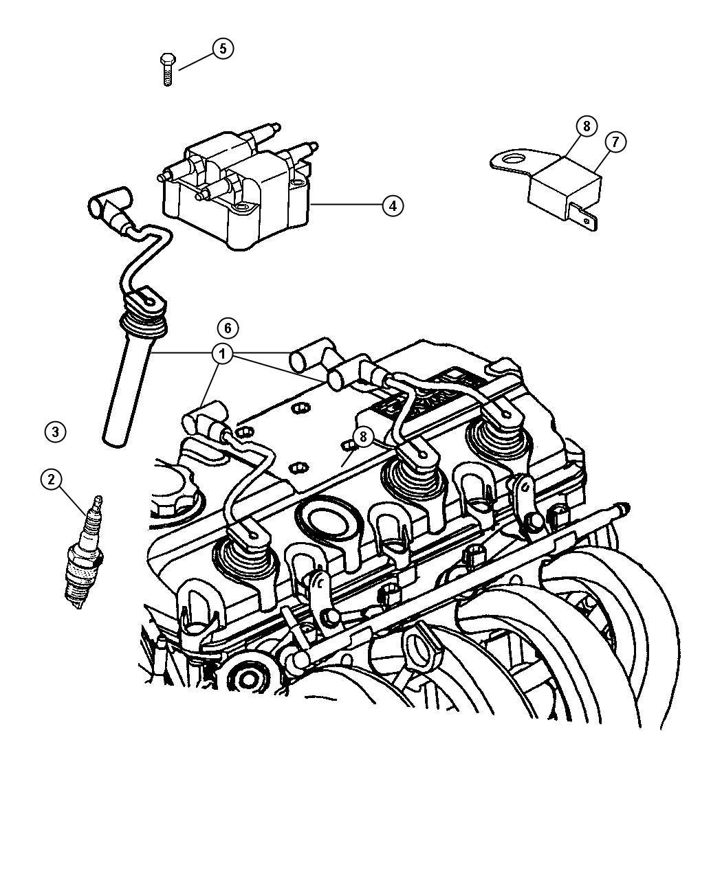 Dodge Neon Sxt 2 0l 4 Cyl A T Spark Plug Re 14mc C5
