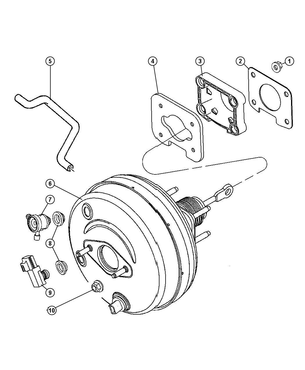 Dodge Durango Valve Brake Booster Check Vacuum