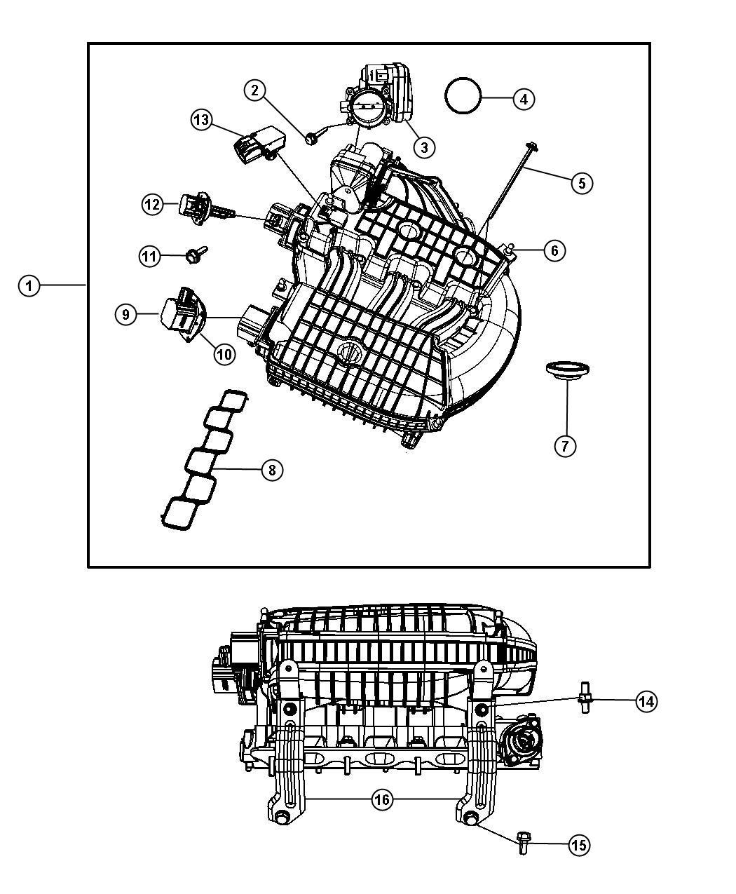 Chrysler Pacifica Actuator Manifold Tuning Valve